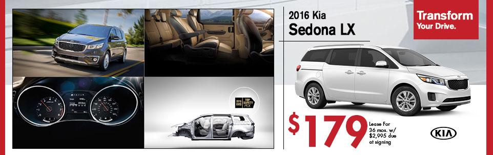 2016 Kia Sedona LX at Team Kia