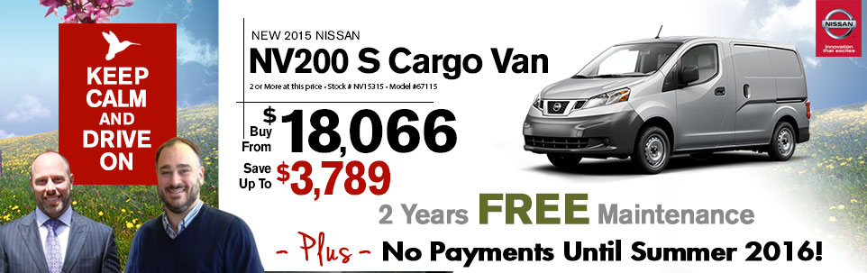 2015 Nissan NV200 S Cargo Van at Team Nissan New Hampshire